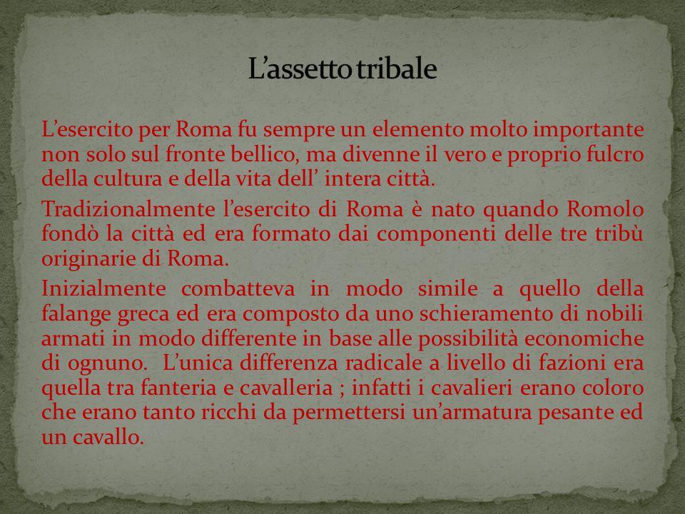 L'esercito per Roma fu sempre un elemento molto importante non solo sul fronte bellico, ma divenne il vero e proprio fulcro della cultura e della vita dell' intera città.