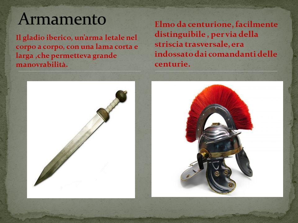 Il gladio iberico, un'arma letale nel corpo a corpo, con una lama corta e larga,che permetteva grande manovrabilità.