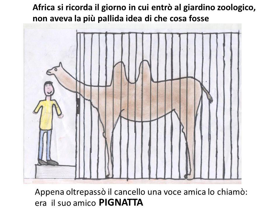 Africa si ricorda il giorno in cui entrò al giardino zoologico, non aveva la più pallida idea di che cosa fosse Appena oltrepassò il cancello una voce
