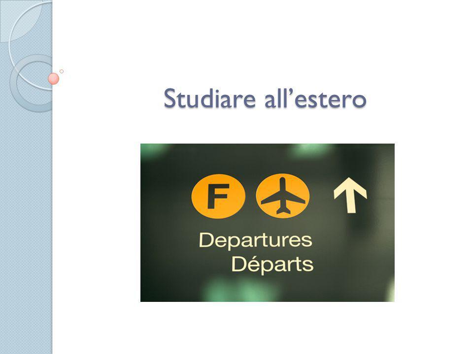 Studiare all'estero