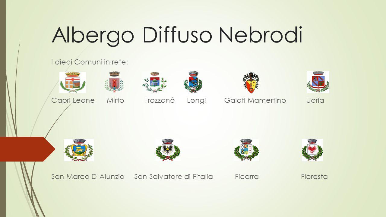 Albergo Diffuso Nebrodi L'albergo diffuso dei Nebrodi può essere definito come un albergo orizzontale, situato nei centri storici/frazionali dei dieci comuni, con camere e servizi.