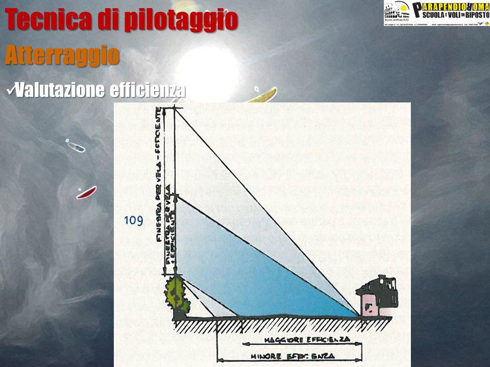 Atterraggio Tecnica di pilotaggio Valutazione efficienza Valutazione efficienza