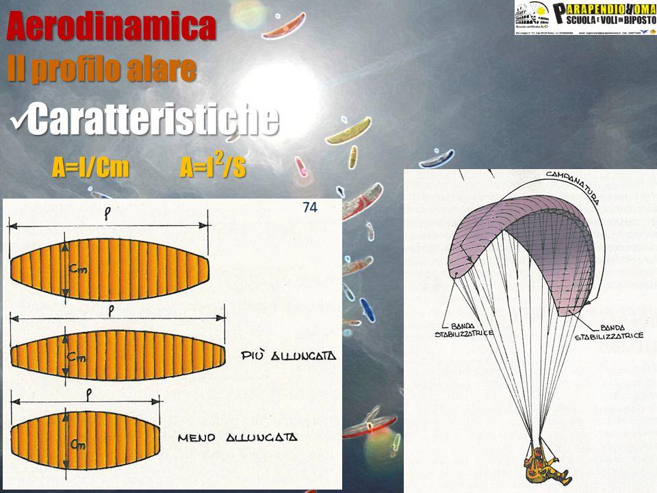 Aerodinamica Caratteristiche Caratteristiche Il profilo alare A=l/Cm A=l /S 2
