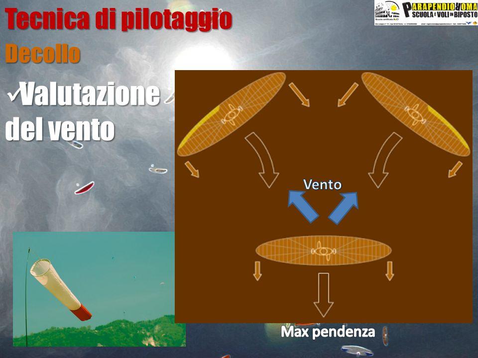 Decollo Tecnica di pilotaggio Valutazione Valutazione del vento
