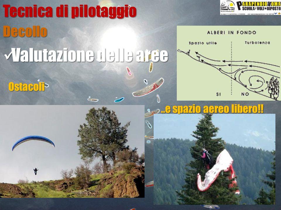 Valutazione delle aree Valutazione delle aree Decollo Tecnica di pilotaggio Ostacoli..e spazio aereo libero!!