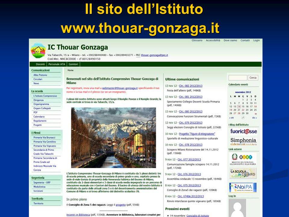 Il sito dell'Istituto Il sito dell'Istitutowww.thouar-gonzaga.it