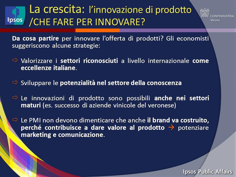 La crescita: l'innovazione di prodotto /CHE FARE PER INNOVARE.