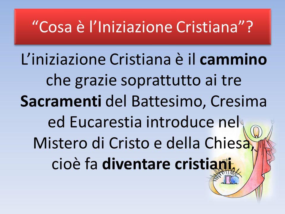 Cosa è l'Iniziazione Cristiana .