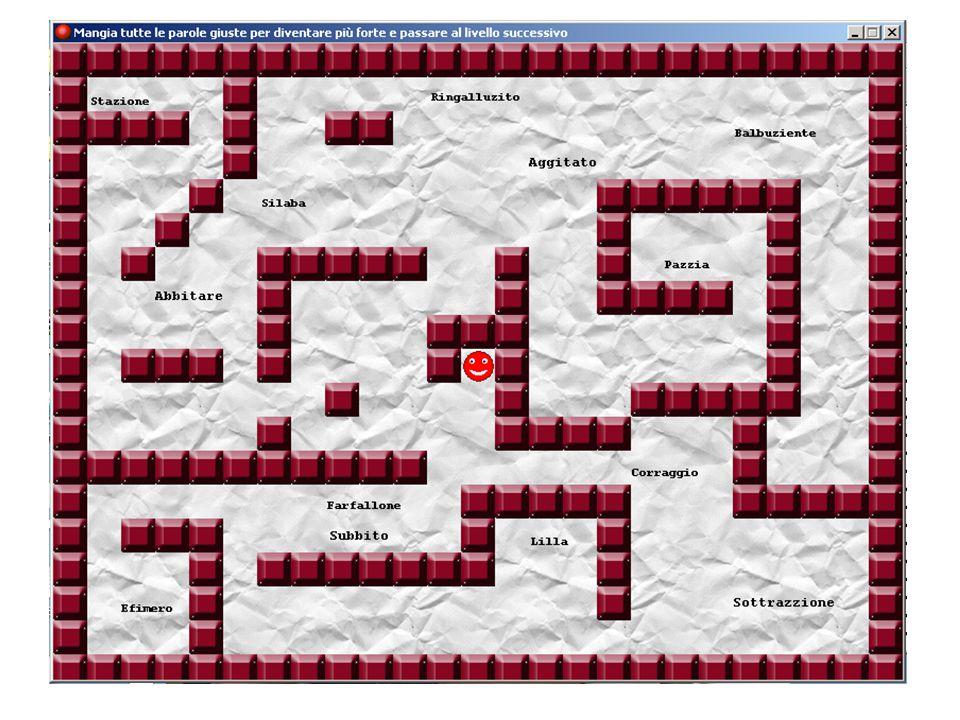 Schermata introduttiva Abbiamo appena visto la schermata introduttiva del gioco, che ne spiega lo scopo e il funzionamento.