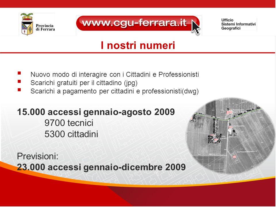 I nostri numeri  Nuovo modo di interagire con i Cittadini e Professionisti  Scarichi gratuiti per il cittadino (jpg)  Scarichi a pagamento per citt