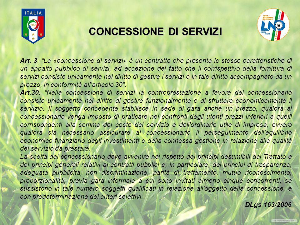 CONCESSIONE DI SERVIZI Art.3.