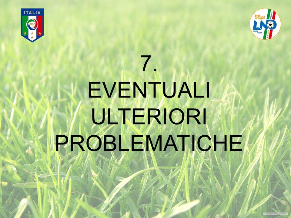 7. EVENTUALI ULTERIORI PROBLEMATICHE