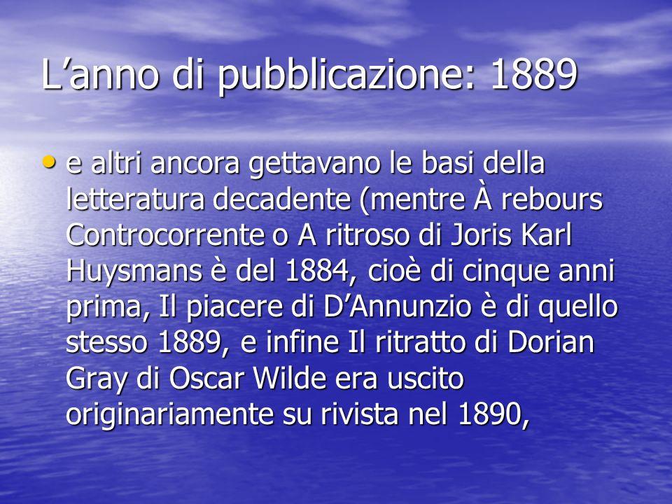 L'anno di pubblicazione: 1889 Jerome scrive questo libro del tutto disimpegnato e autonomo da qualsiasi corrente letteraria del tempo.