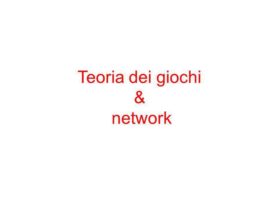 Teoria dei giochi & network