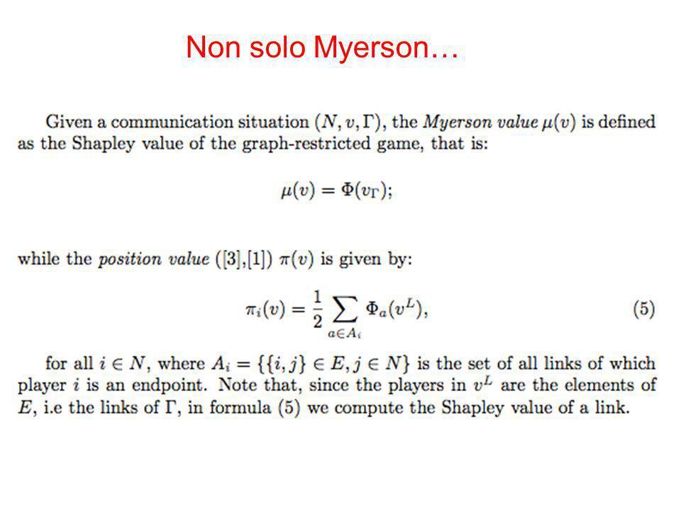 Non solo Myerson…