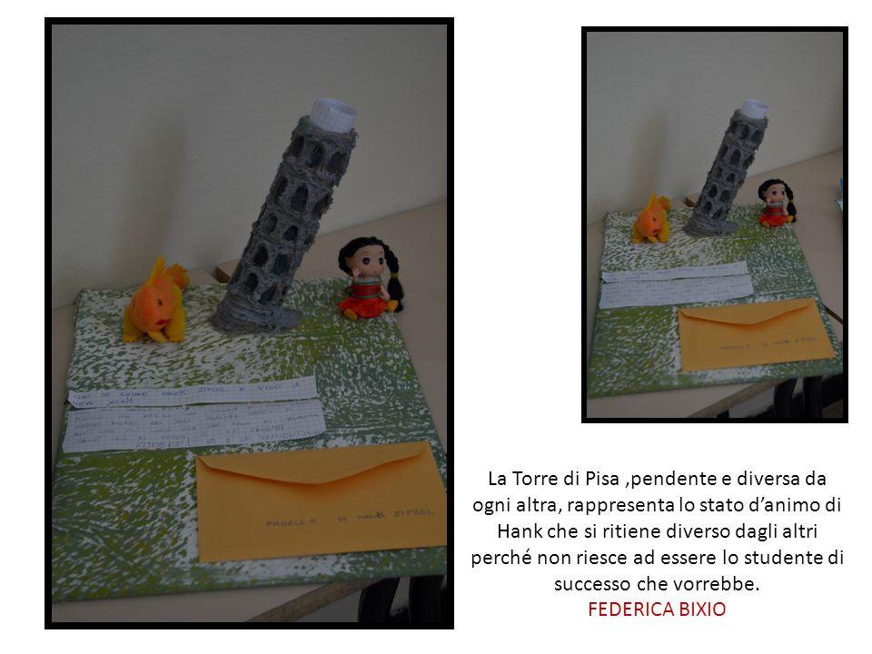 La Torre di Pisa,pendente e diversa da ogni altra, rappresenta lo stato d'animo di Hank che si ritiene diverso dagli altri perché non riesce ad essere