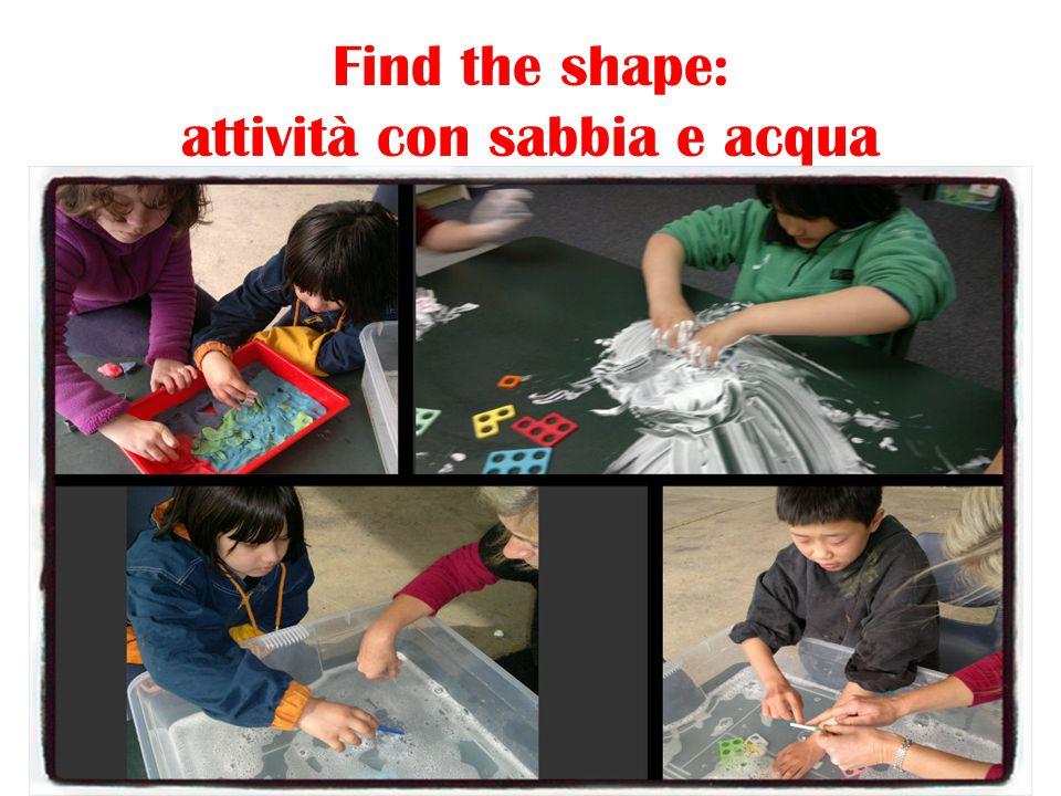 Find the shape: attività con sabbia e acqua