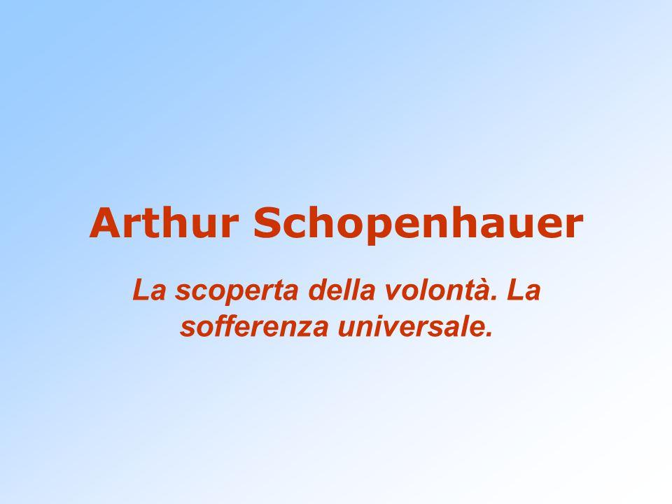 Arthur Schopenhauer La scoperta della volontà. La sofferenza universale.