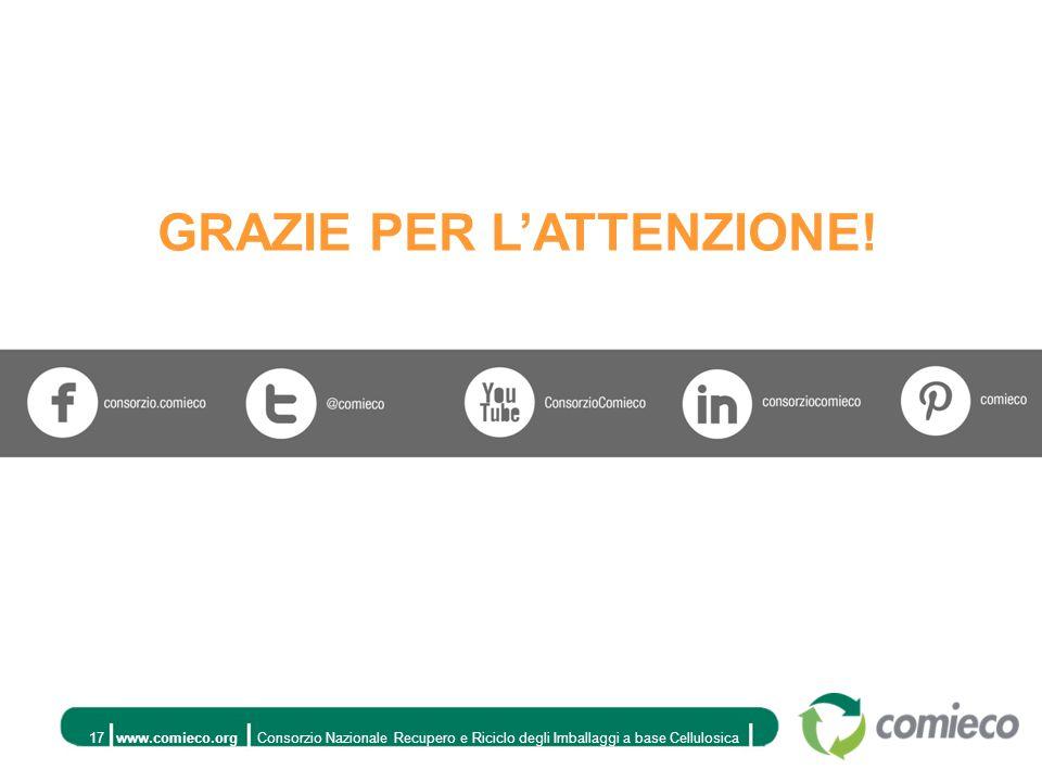www.comieco.orgConsorzio Nazionale Recupero e Riciclo degli Imballaggi a base Cellulosica17 GRAZIE PER L'ATTENZIONE!