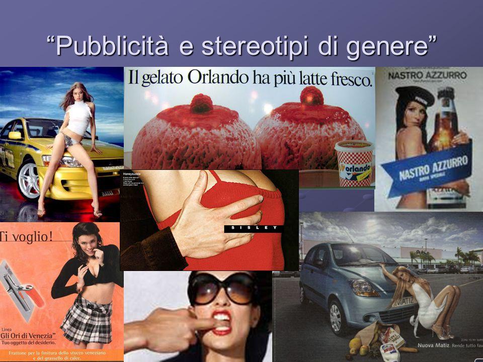 """""""Pubblicità e stereotipi di genere"""""""