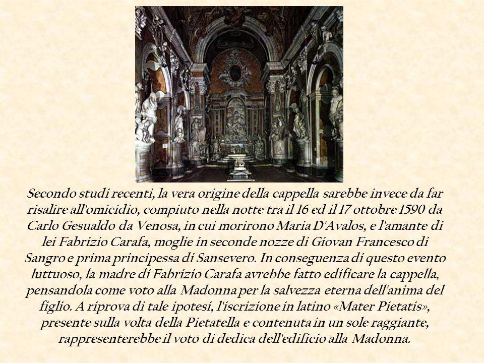 Secondo studi recenti, la vera origine della cappella sarebbe invece da far risalire all'omicidio, compiuto nella notte tra il 16 ed il 17 ottobre 159