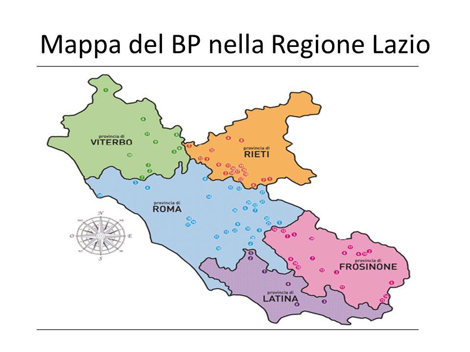 Mappa del BP nella Regione Lazio