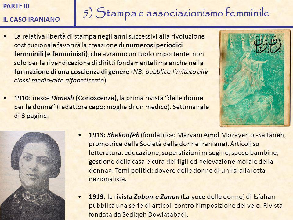 La relativa libertà di stampa negli anni successivi alla rivoluzione costituzionale favorirà la creazione di numerosi periodici femminili (e femminist