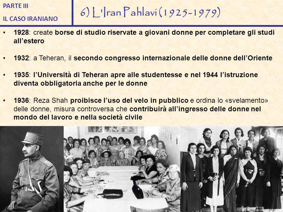 1928: create borse di studio riservate a giovani donne per completare gli studi all'estero 1932: a Teheran, il secondo congresso internazionale delle