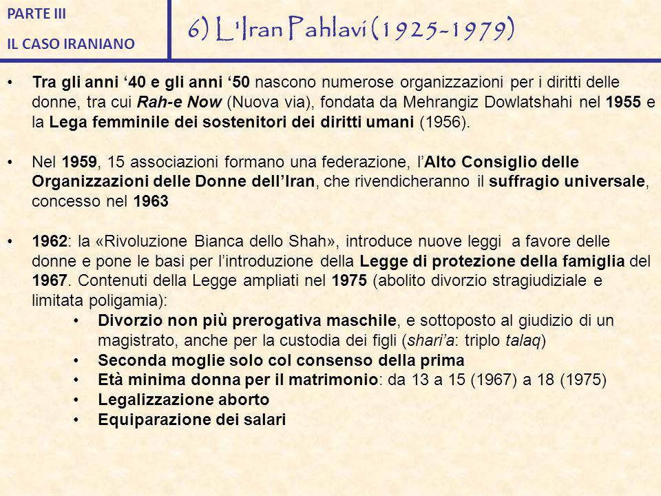 Tra gli anni '40 e gli anni '50 nascono numerose organizzazioni per i diritti delle donne, tra cui Rah-e Now (Nuova via), fondata da Mehrangiz Dowlats