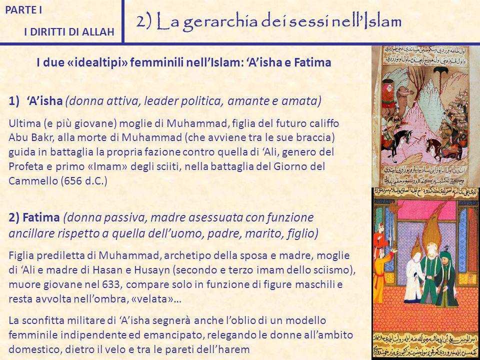 PARTE I I DIRITTI DI ALLAH 2) La gerarchia dei sessi nell'Islam I due «idealtipi» femminili nell'Islam: 'A'isha e Fatima 1)'A'isha (donna attiva, lead