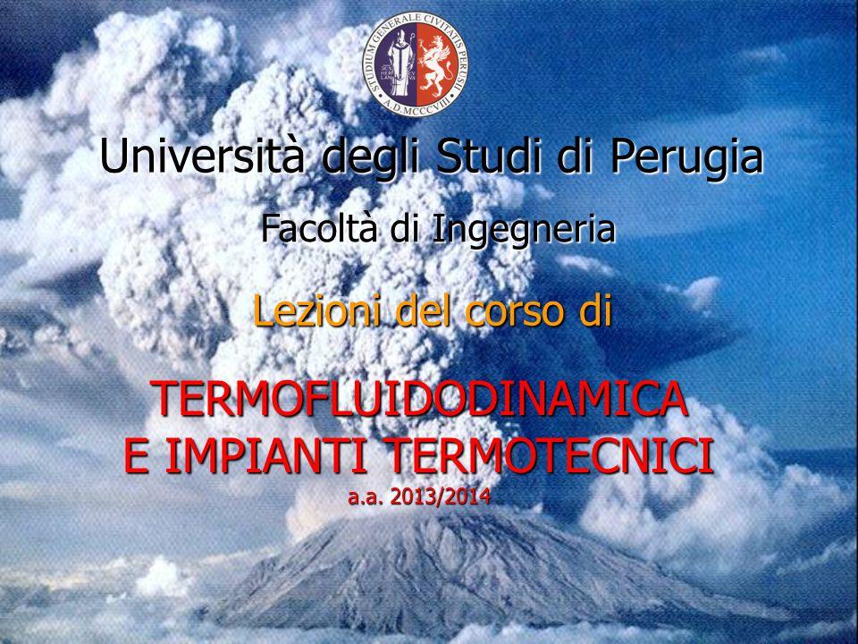 TERMOFLUIDODINAMICA E IMPIANTI TERMOTECNICI a.a.