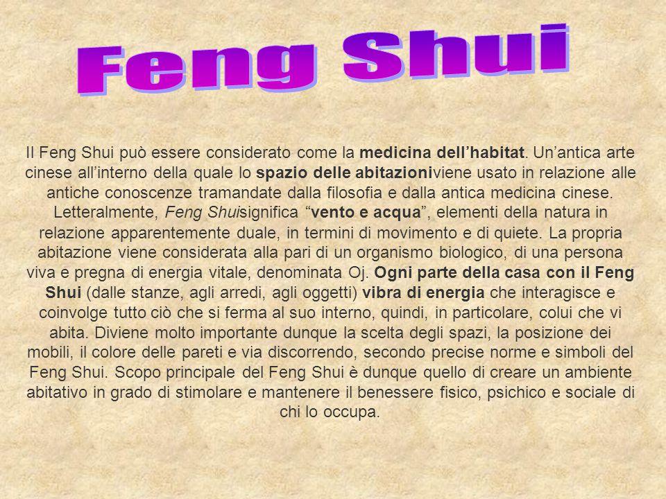 Il Feng Shui può essere considerato come la medicina dell ' habitat. Un ' antica arte cinese all ' interno della quale lo spazio delle abitazioniviene