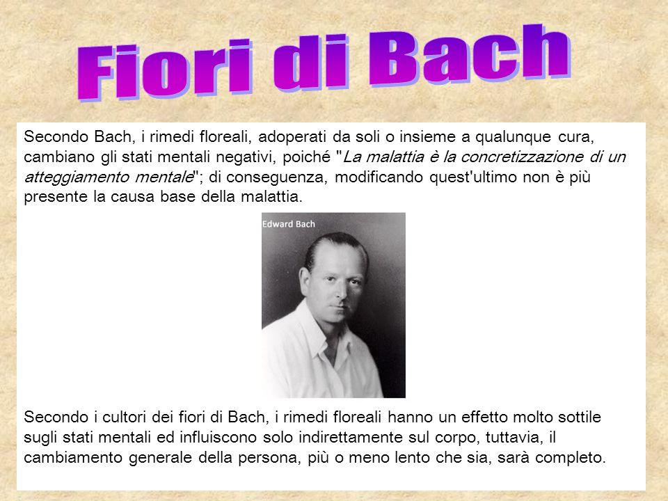 Secondo Bach, i rimedi floreali, adoperati da soli o insieme a qualunque cura, cambiano gli stati mentali negativi, poiché