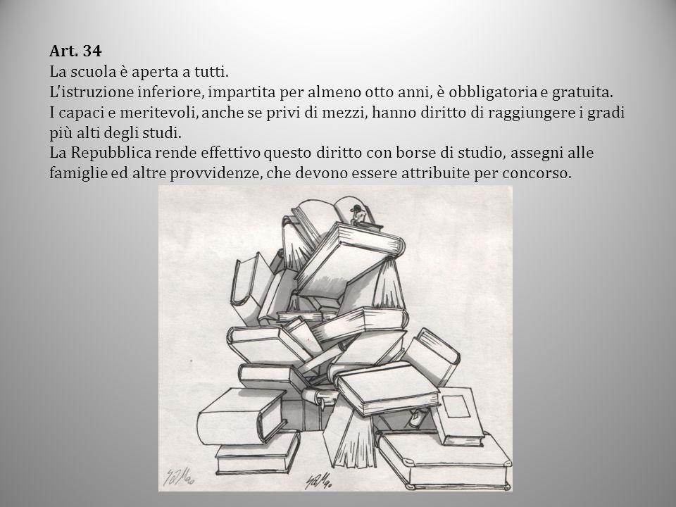 Dalla lettura degli articoli della Costituzione che riguardano la scuola incrociata con la lettura dell'art.