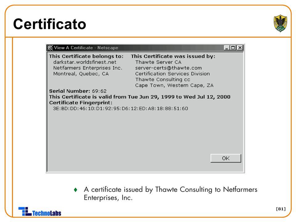 [81] Certificato