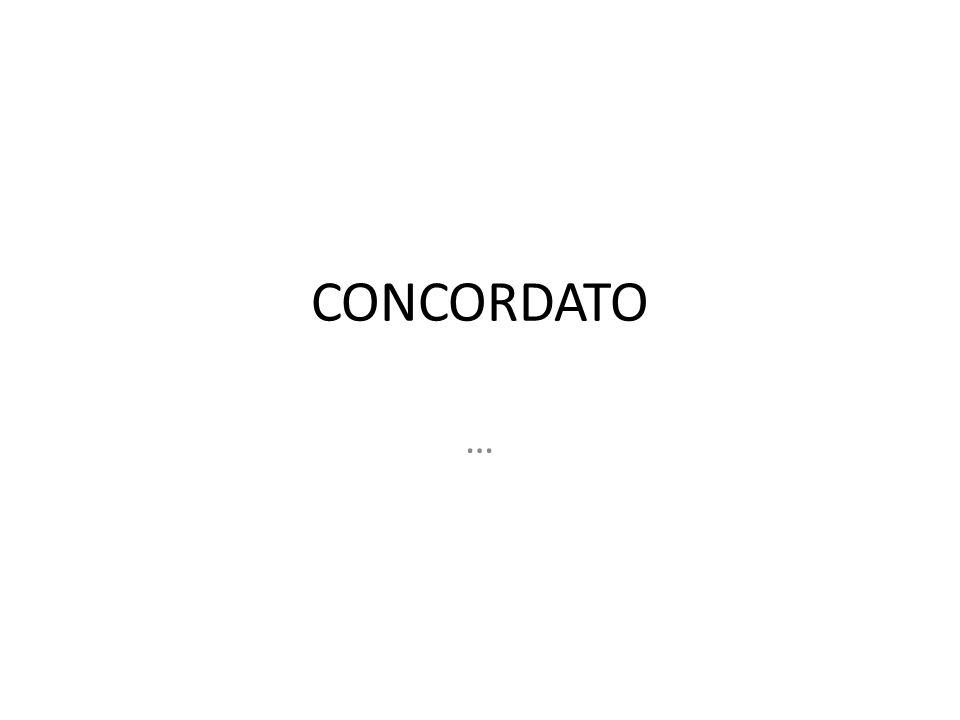 CONCORDATO …