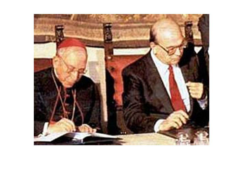CONCORDATO NEL 1984 FESTIVITA' DI SAN GIUSEPPE ABOLITA ASCENSIONE E CORPUS DOMINI SPOSTATE ALLA DOMENICA SUCCESSIVA.