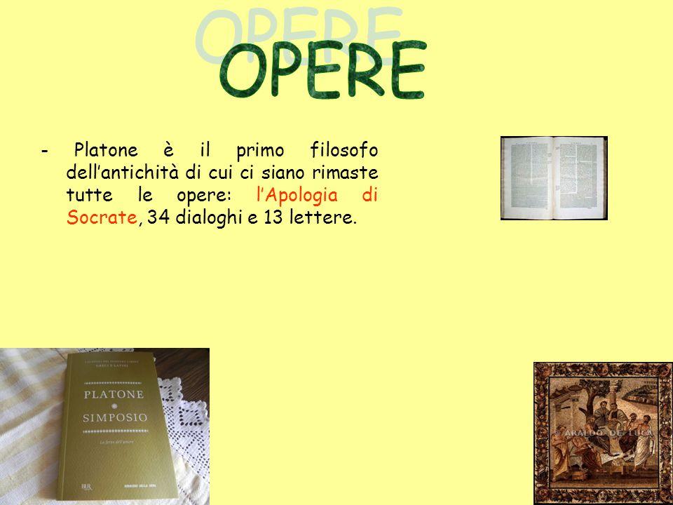 Tutti i temi e i risultati dei dialoghi si trovano riassunti nella massima opera di Platone, la Repubblica.