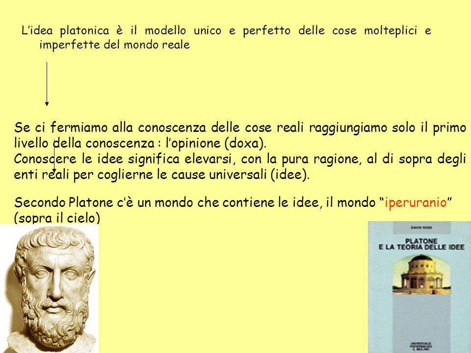 Opinione Scienza mutevole imperfetta immutabile perfetta rispecchia Cose Idee La filosofia platonica è una sorta di sintesi tra l'eraclitismo e l'eleatismo.