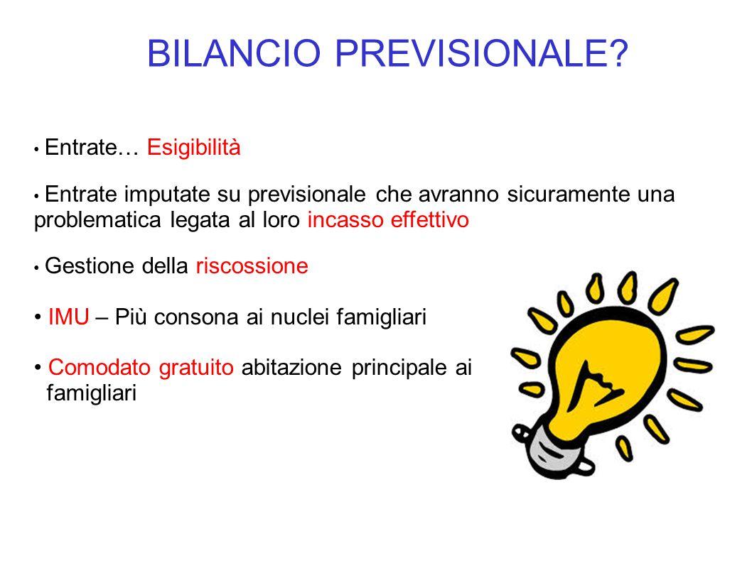 BILANCIO PREVISIONALE.