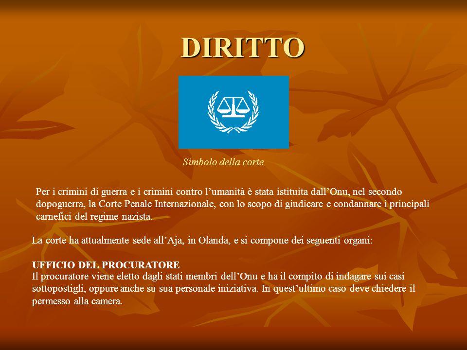 DIRITTO Per i crimini di guerra e i crimini contro l'umanità è stata istituita dall'Onu, nel secondo dopoguerra, la Corte Penale Internazionale, con l