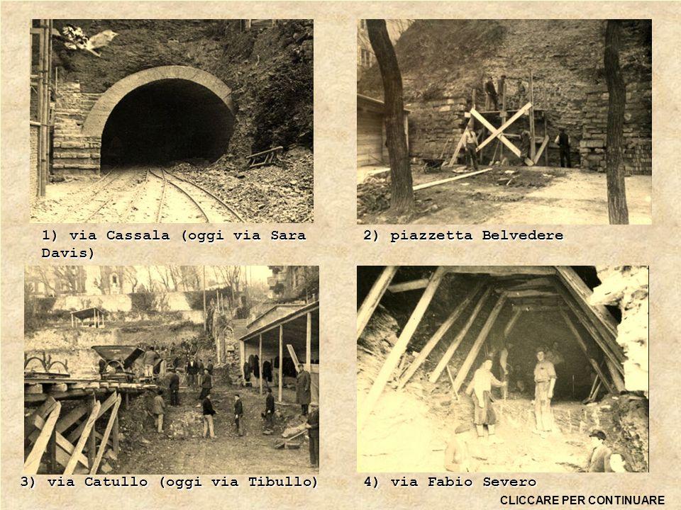 Il progetto riguardante la zona di Scorcola prevedeva la costruzione di un complesso di gallerie sotto tutto il colle che avrebbe dovuto coprire un'area che andava da via Fabio Severo a Roiano.
