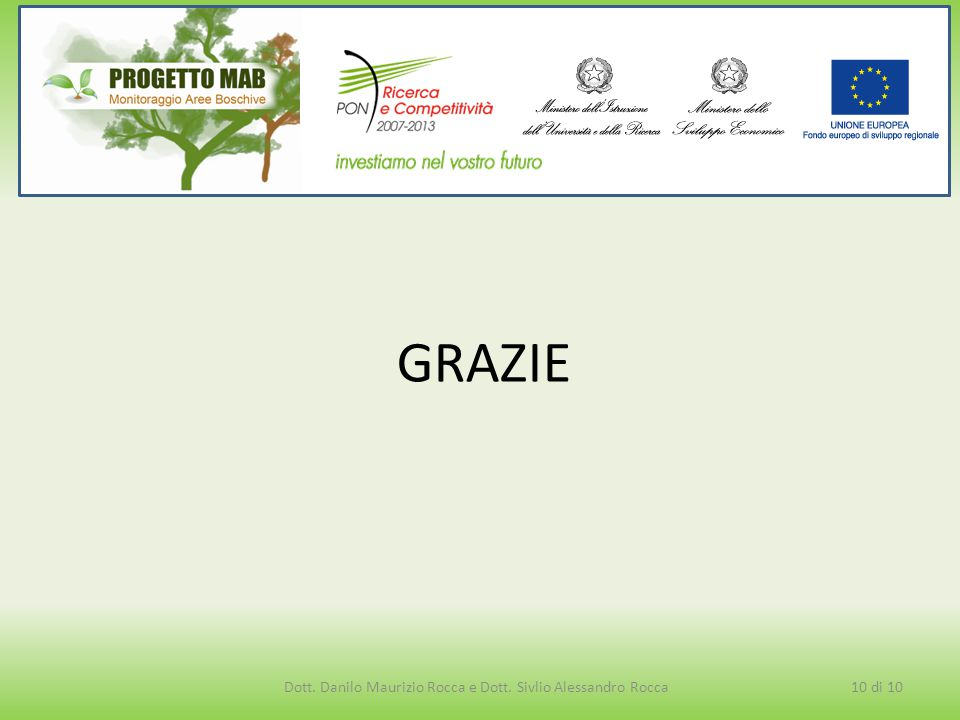 GRAZIE 10 di 10Dott. Danilo Maurizio Rocca e Dott. Sivlio Alessandro Rocca