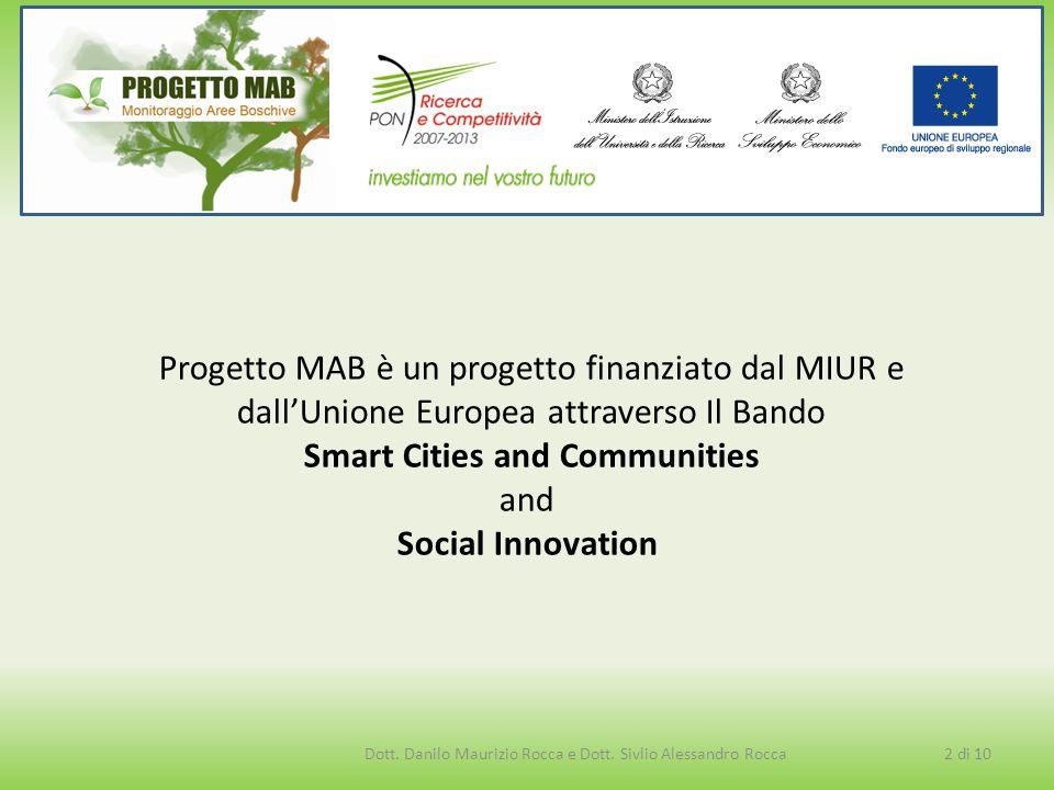 Progetto MAB è un progetto finanziato dal MIUR e dall'Unione Europea attraverso Il Bando Smart Cities and Communities and Social Innovation 2 di 10Dot