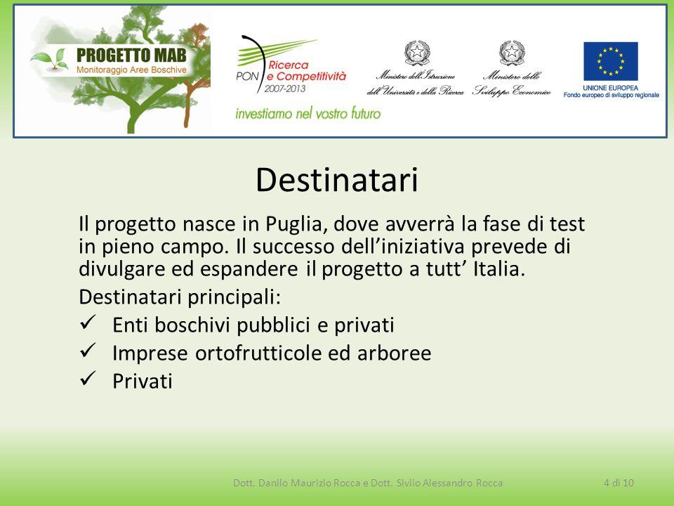 Il progetto nasce in Puglia, dove avverrà la fase di test in pieno campo. Il successo dell'iniziativa prevede di divulgare ed espandere il progetto a