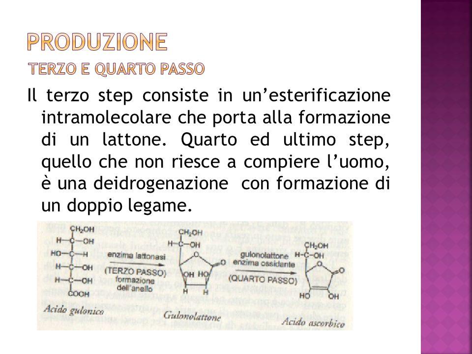 Il terzo step consiste in un'esterificazione intramolecolare che porta alla formazione di un lattone. Quarto ed ultimo step, quello che non riesce a c
