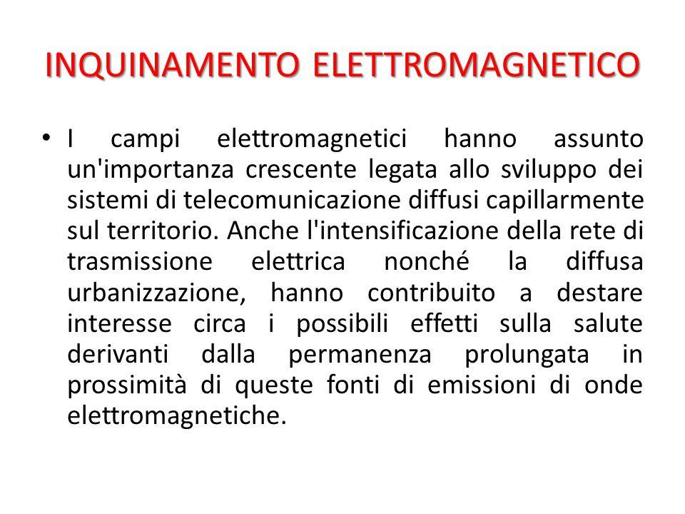 I campi elettromagnetici hanno assunto un importanza crescente legata allo sviluppo dei sistemi di telecomunicazione diffusi capillarmente sul territorio.
