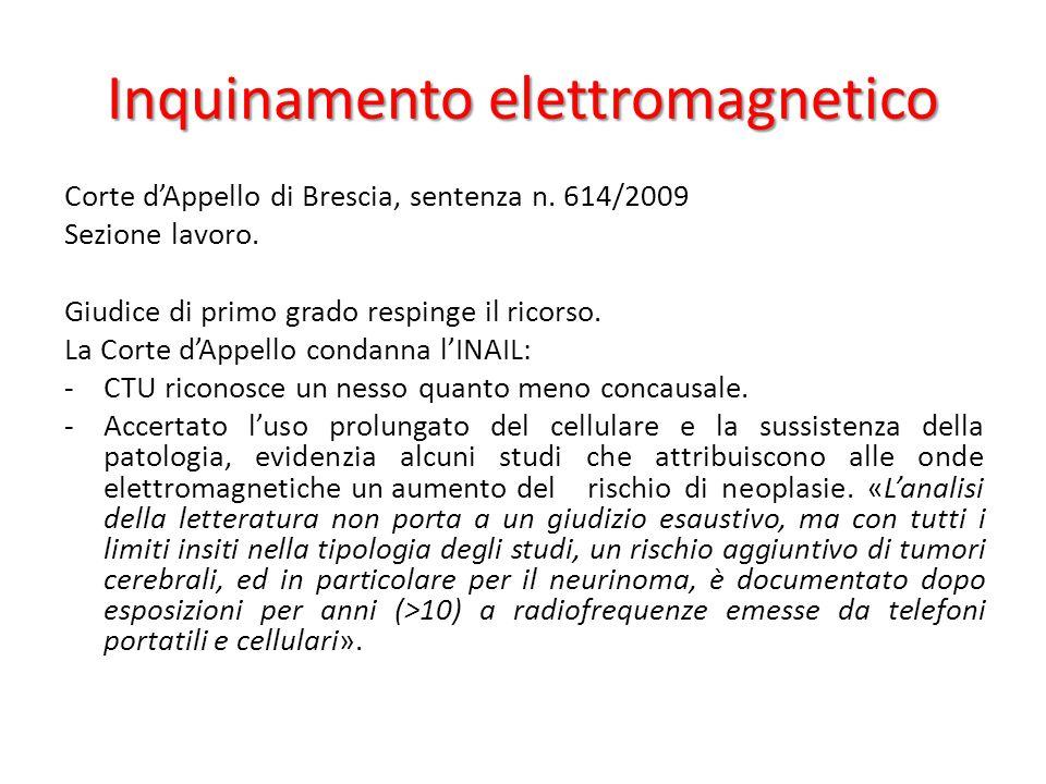 Inquinamento elettromagnetico Corte d'Appello di Brescia, sentenza n.