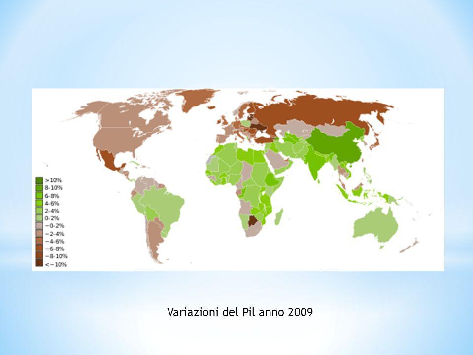 Variazioni del Pil anno 2009