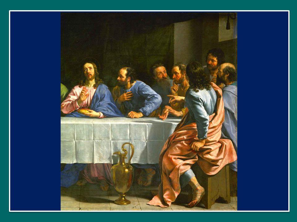 Sulla mensa c'è una croce, ad indicare che su quell'altare si offre il sacrificio di Cristo: è Lui il cibo spirituale che lì si riceve, sotto i segni del pane e del vino.